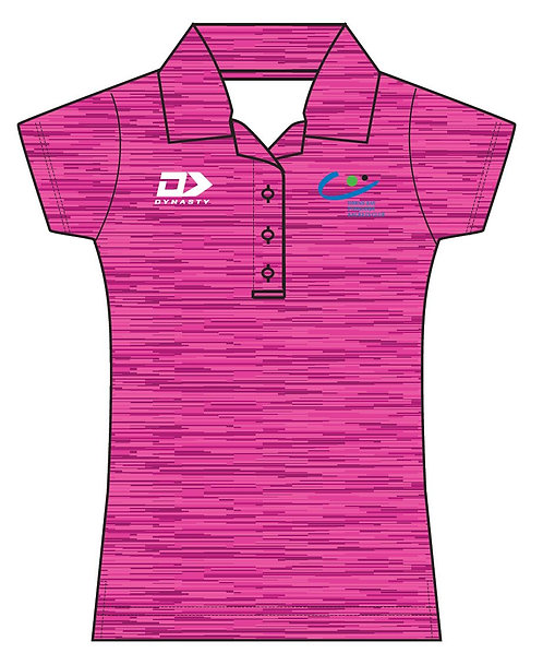 Womens Performance Polo - Pink