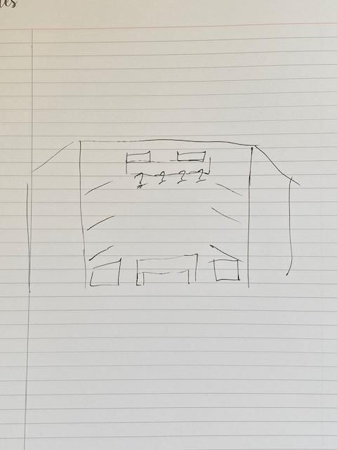 A simple sketch for a small closet storage design