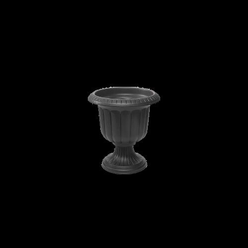 black urn planter