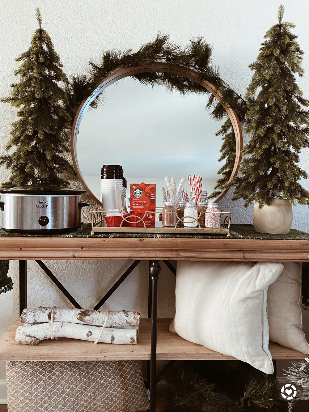 Create a cozy cocoa bar for Christmas with the family.