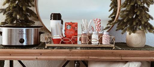 Create Hallmark Moments with a Cozy Christmas Cocoa Bar for the Holidays.