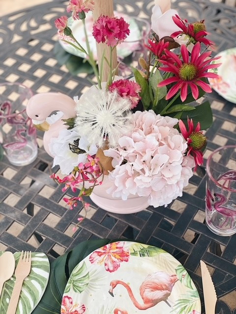 Table decorating ideas for parties and Mother's day brunch