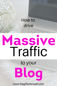 Learn how to drive massive traffic to your blog with these 5 easy steps. #blogtips #increaseblogtraffic