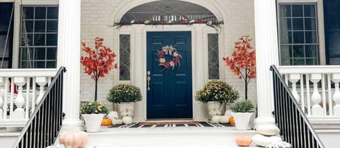 DIY Fall Doorway Garland Tutorial