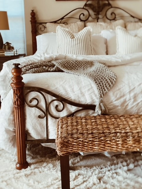 Splurge versus save bedding and sheets layers.
