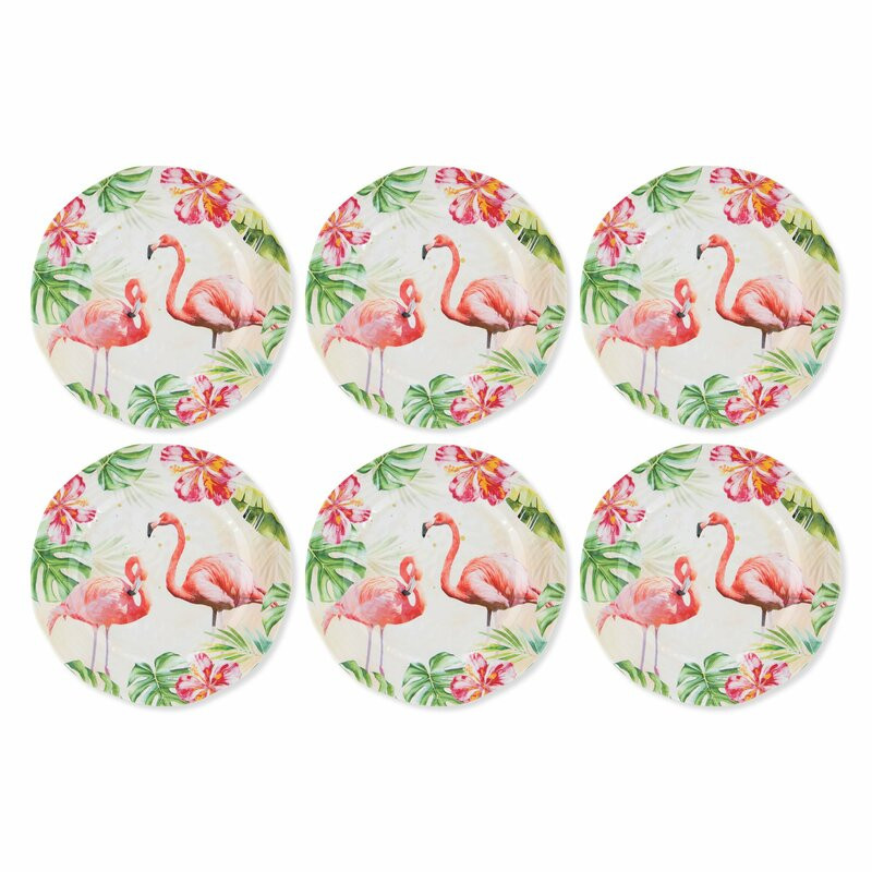 Flamingo themed plates perfect for outdoor patios
