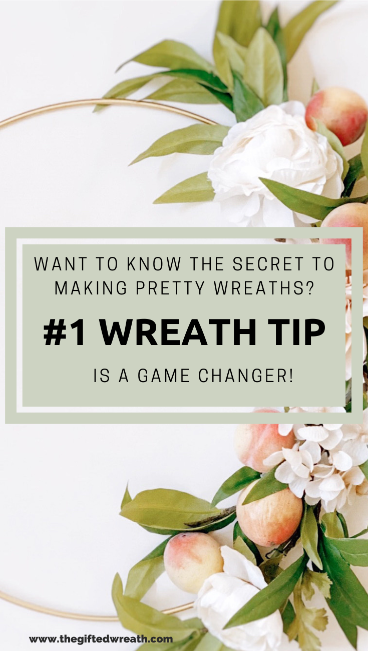 Learn how to make pretty wreaths with this #1 wreath making tip