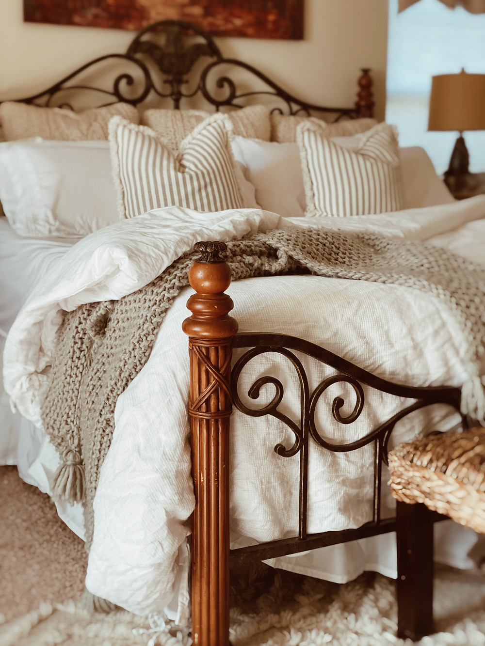 Pottery Barn has the best Belgian Waffle Knit Duvet Cover.
