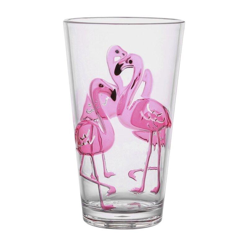 Acrylic Flamingo Drink Set from Wayfair