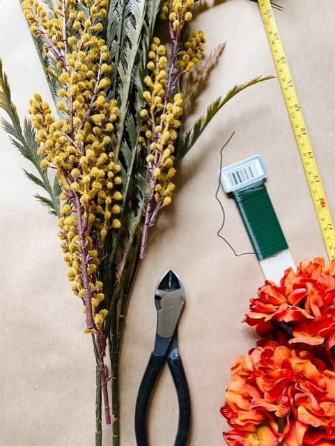 DIY Fall Garland Supplies, items you'll need to create a seasonal garland