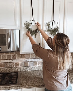 Hanging Kitchen Cabinet Wreaths
