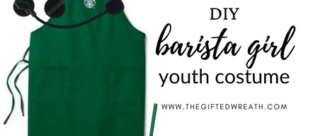 Simple and Easy DIY Barista Girl/Boy Costume for Youth and Adults.