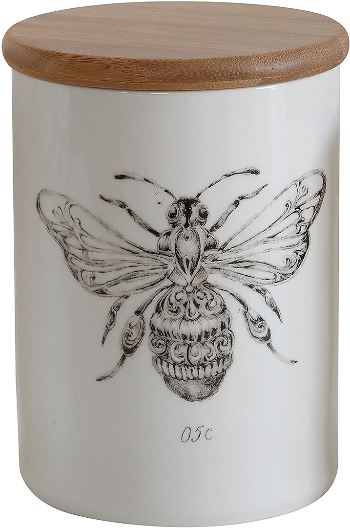bee stoneware pot