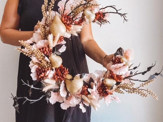 Half Moon Wreath Hack for Halloween