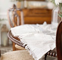 Linen Table Throw. dining room table