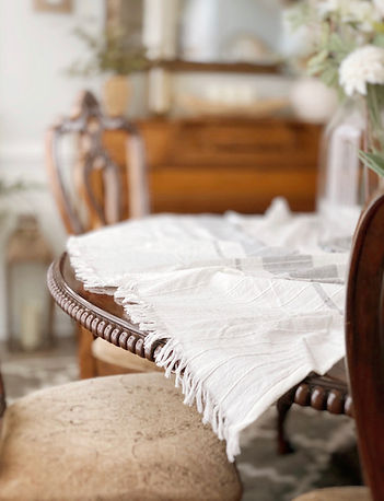 Linen Table Throw