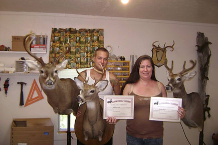 Completed the Deer Class at Taxidermy School