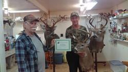 Paul Snapp with Tom Deer mount