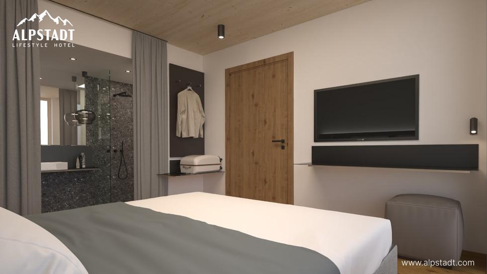 Rendering / Voransicht Alpstadt Hotel Bludenz Fohren Center