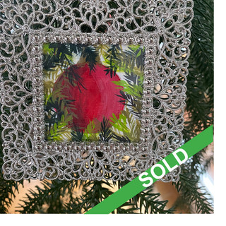 2020 Ornament_Red Ornament amongst ferns
