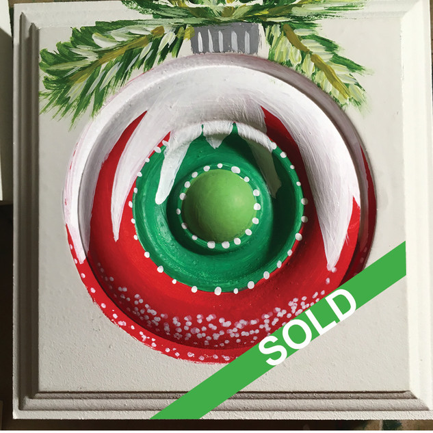 SOLD:  Red Green Snow Shower