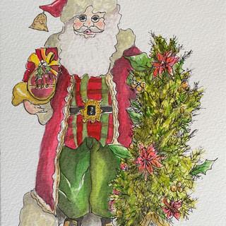 Tartan Santa