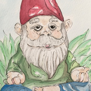 Namaste Gnome_Red
