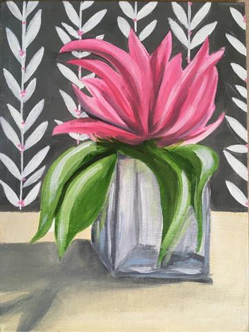 Pink Floral in Vase