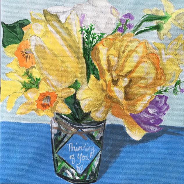 Bluebirds & Bloom Bouquet