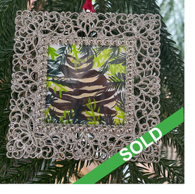 2020 Ornament_Pinecone amongst ferns SOL