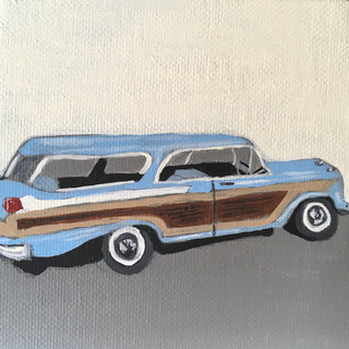 Mini Painting: 1957 Mercury Wagon