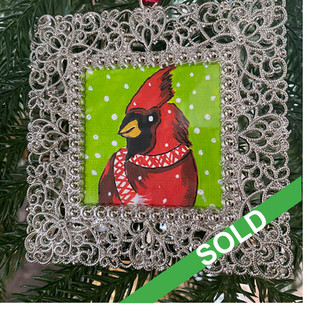 2020 Ornament_Argyle Cardinal
