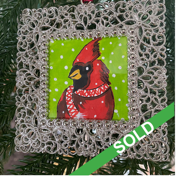2020 Ornament_Argyle Cardinal
