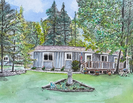 Two Sisters Lake_WI Family Cabin