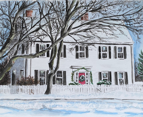 Newburyport, MA Family Home in Winter Time