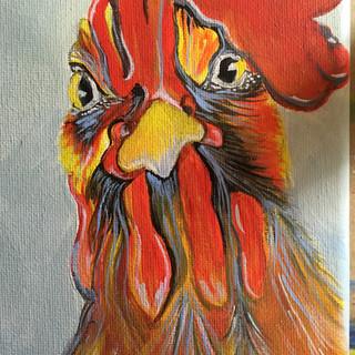 Larry, the Leghorn Chicken