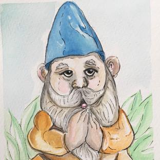 Namaste Gnome_Blue