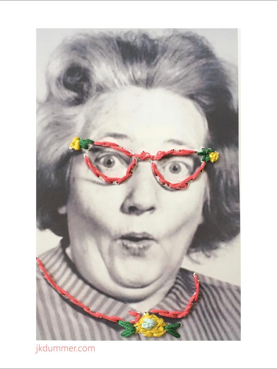 Gladys (Embroidery Art)