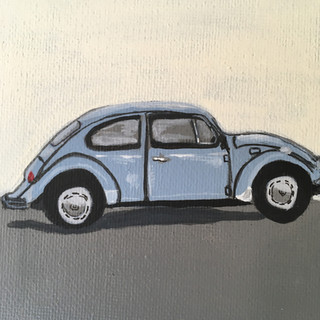 Mini Painting: 1967 Volkswagon Beetle