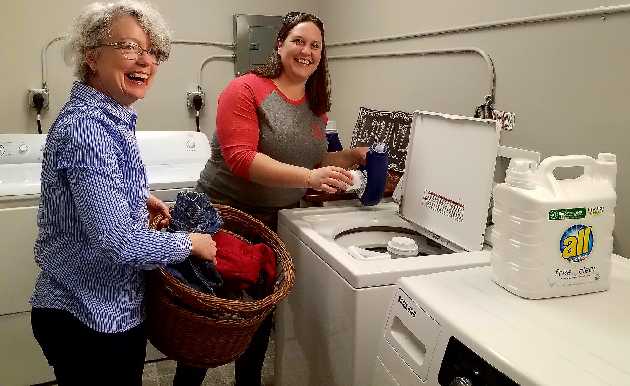 Laundry Facility Grand Opening