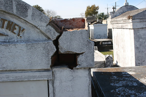 New Orleans cemetery tomb restoration