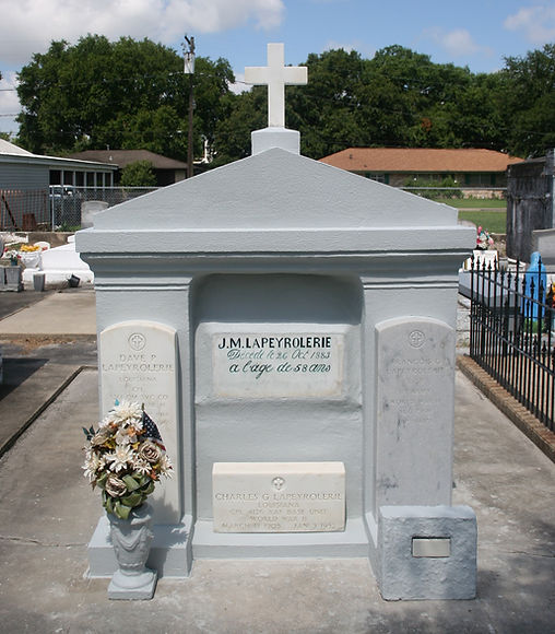 New Orleans cemetery cleaning repair painting