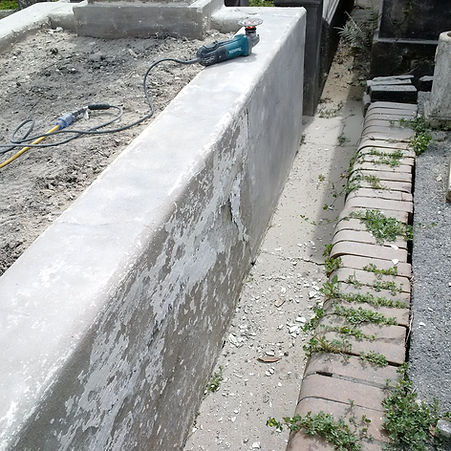 New Orleans cemetery repair, tomb restoration, tomb repair cleaning painting, headstone repair