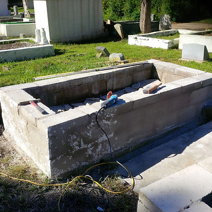 New Orleans cemetery tomb repair restoration grave cleaning painting