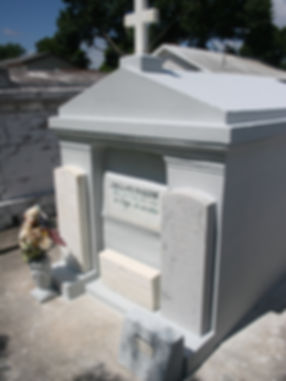 New Orleans cemetery repair tomb painting cleaning restoration