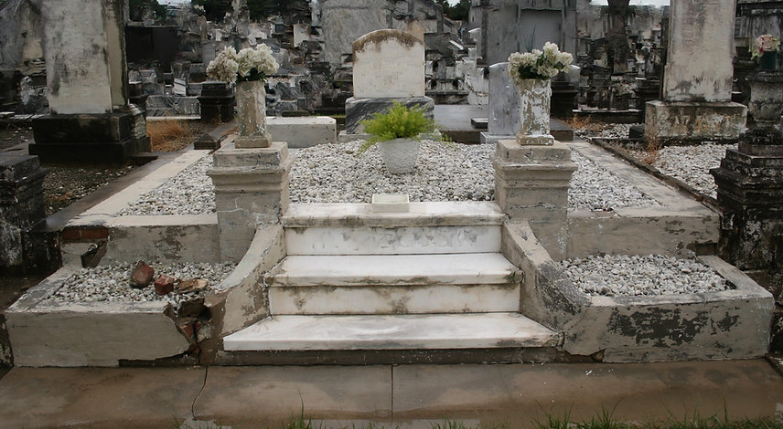New Orleans cemetery repair tomb grave cleaning painting restoration