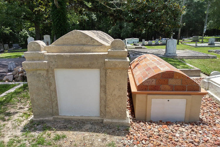 New Orleans cemetery restoration, tomb repair, cemetery repair, tomb restoration, New Orleans grave, tomb cleaning, painting, renovation