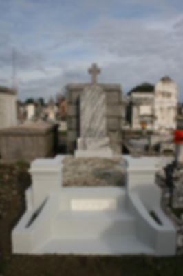 New Orleans tomb restoration cemetery repair tomb repair tomb cleaning painting