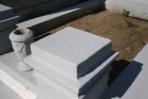 New Orleans cemetery repair, tomb restoration, tomb repair cleaning painting headstone repair