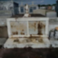 New Orleans tomb restoration, cemetery repair, tomb repair grave cleaning painting headstone repair
